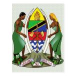 Tanzania Coat of Arms detail Post Card