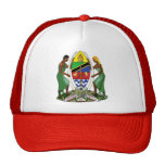 Tanzania Coat of Arms detail Trucker Hats