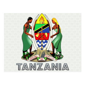 Tanzania Coat of Arms Postcard