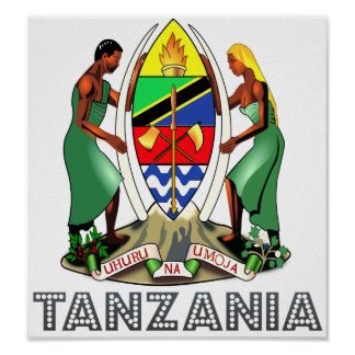 Tanzania Coat of Arms Poster