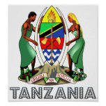 Tanzania Coat of Arms Posters