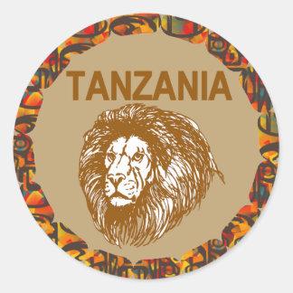 Tanzania con el pegatina del león
