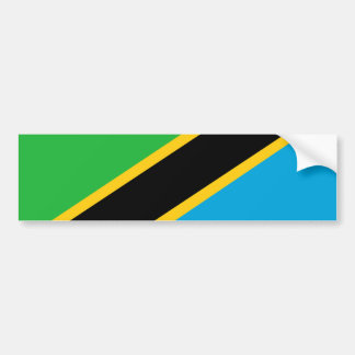Tanzania country flag nation symbol bumper sticker