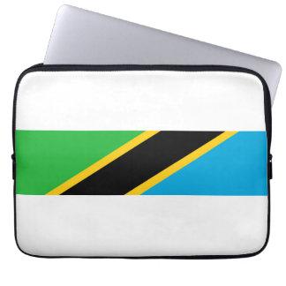 Tanzania country flag nation symbol laptop sleeve