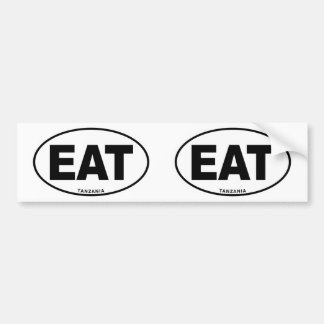 Tanzania EAT Oval ID Identification Code Initials Bumper Sticker