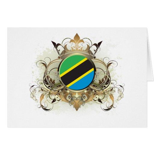 Tanzania elegante tarjeta