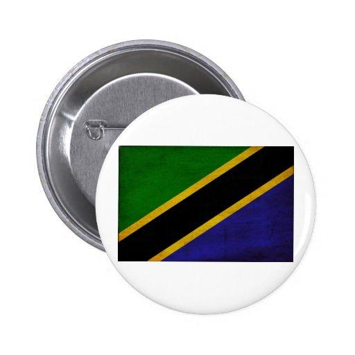 Tanzania Flag Pinback Buttons
