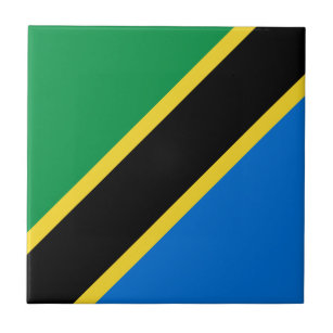 Tanzania National Flag Decorative Ceramic Tiles | Zazzle