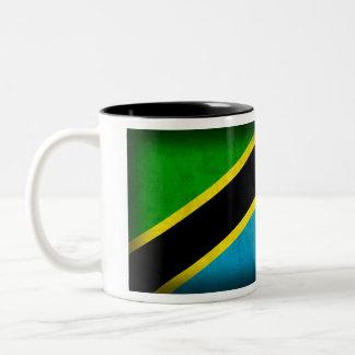 Tanzania Flag Distressed Mug