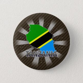 Tanzania Flag Map 2.0 Button