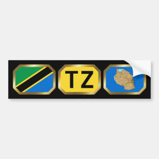 Tanzania Flag Map Code Bumper Sticker