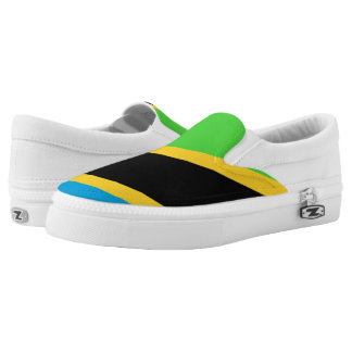Tanzania Flag -.png Slip-On Sneakers