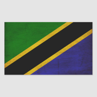 Tanzania Flag Rectangular Sticker