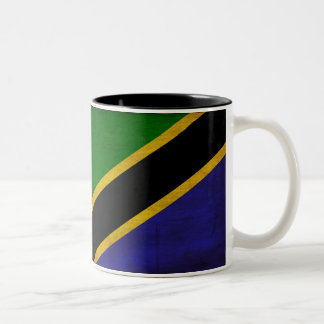 Tanzania Flag Two-Tone Coffee Mug