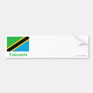Tanzania Flag with Name Bumper Sticker