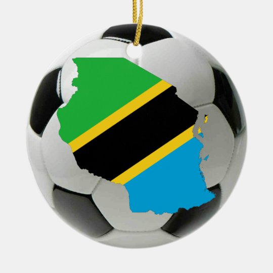 Tanzania football soccer ornament