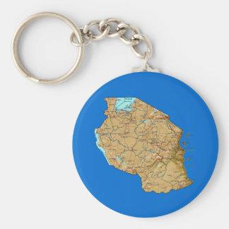 Tanzania Map Keychain