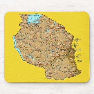 Tanzania Map Mousepad