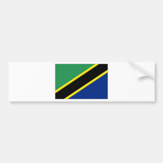 Tanzania National Flag Bumper Sticker