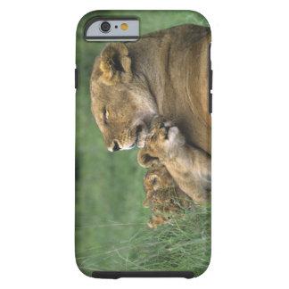 Tanzania, Ngorongoro Crater. African lion mother Tough iPhone 6 Case