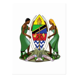 Tanzania Official Coat Of Arms Heraldry Symbol Postcards