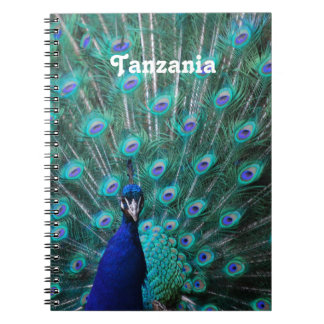 Tanzania Peacock Spiral Note Books
