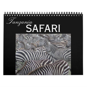 tanzania safari 2021 calendar
