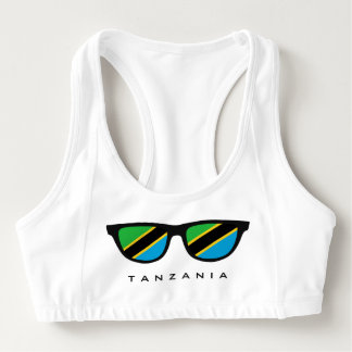 Tanzania Shades custom sports bra