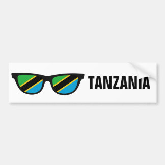 Tanzania Shades custom text & color bumpersticker Bumper Sticker