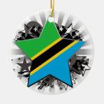Tanzania Star Christmas Tree Ornament
