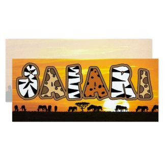 Tanzania Sunset Safari Card