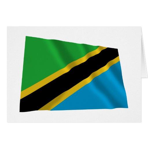 Tanzania Waving Flag Card