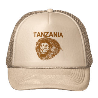 Tanzania With Lion Cap Trucker Hat