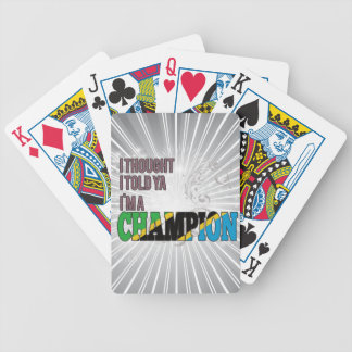 Tanzanian and a Champion Bicycle Playing Cards