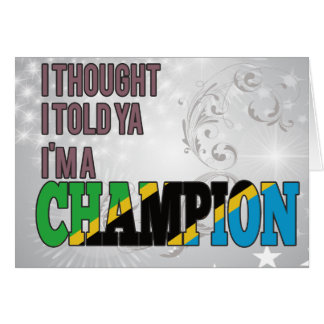 Tanzanian and a Champion Card