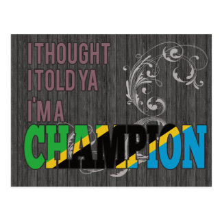 Tanzanian and a Champion Post Cards