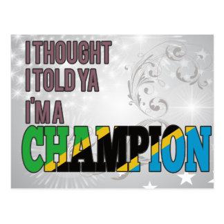 Tanzanian and a Champion Postcard