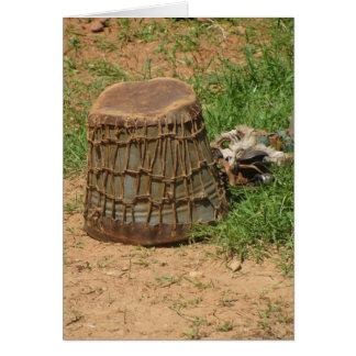 Tanzanian Drum Card