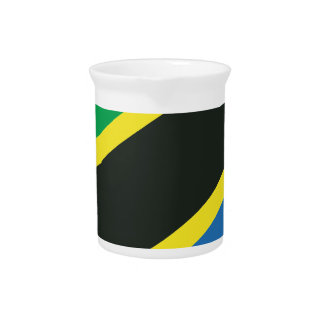 Tanzanian flag drink pitcher