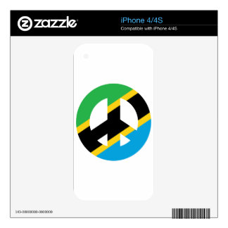 Tanzanian Peace Symbol Decals For The iPhone 4