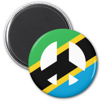 Tanzanian Peace Symbol Magnet
