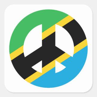 Tanzanian Peace Symbol Square Sticker