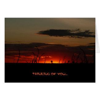 Tanzanian Sunset Card