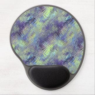 Tanzanite Blue Liquid Pattern Gel Mouse Pad
