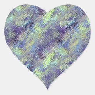 Tanzanite Blue Liquid Pattern Heart Sticker