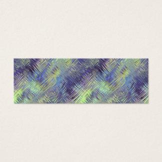 Tanzanite Blue Liquid Pattern Mini Business Card