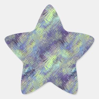 Tanzanite Blue Liquid Pattern Star Sticker