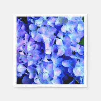 Tanzanite  Hydrangeas Paper Napkin