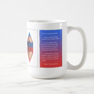 Tao #14- el punto doble bicolor tazas de café