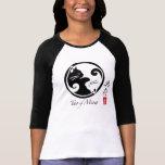Tao de la camiseta del raglán de las mujeres del playeras